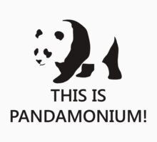 This is Pandamonium! (Pun) One Piece - Short Sleeve