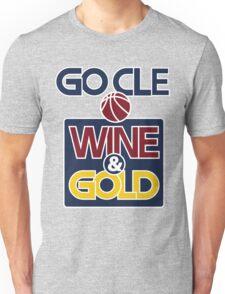 GO CLE Wine & Gold Unisex T-Shirt