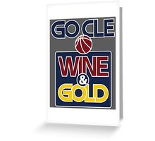 GO CLE Wine & Gold Greeting Card