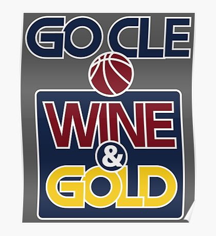 GO CLE Wine & Gold Poster