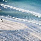 Walkers and Dog, Talisker Bay, Isle of Skye, Inner Hebrides, Scotland by Iain MacLean