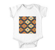 Tribal,native,pattern,boho,nature,teal,navy blue,cream,orange,yellow,modern,trendy One Piece - Short Sleeve