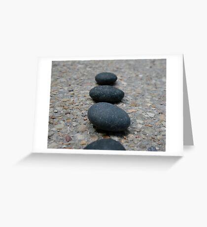 Zen Stones Greeting Card