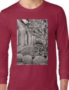 Church Of The Cross Bluffton SC Black And White Long Sleeve T-Shirt