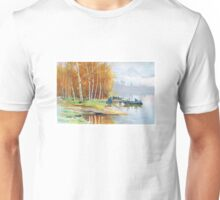 Autumnal Lake Unisex T-Shirt