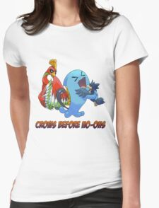 Crows Before Ho-Ohs Womens Fitted T-Shirt