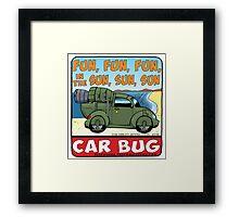 Car Bug under a Red Dwarf Star Framed Print