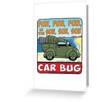 Car Bug under a Red Dwarf Star Greeting Card