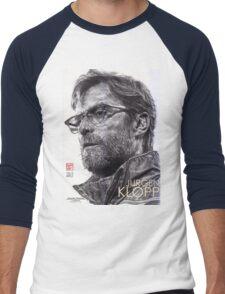 Jurgen Klopp - Liverpool FC - Hand Drawn Portrait Men's Baseball ¾ T-Shirt