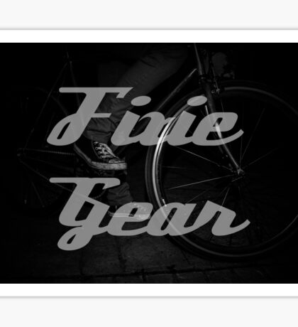 Fixie gear Sticker