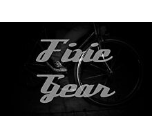 Fixie gear Photographic Print