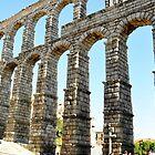 Acueducto Romano. Ciudad de Segovia, España. by cieloverde