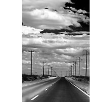 Power Lines to the End of the Road Photographic Print