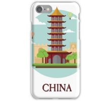China Peoples Republic PRC Beijing Tourist Travellers Edition iPhone Case/Skin