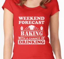 Baking with a chance of drinking Women's Fitted Scoop T-Shirt