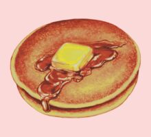 Pancakes Pattern - Blue One Piece - Long Sleeve