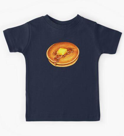 Pancakes Pattern - Blue Kids Tee