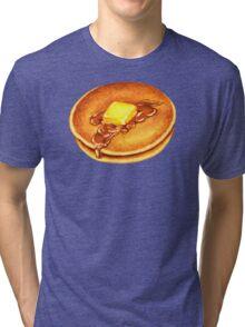 Pancakes Pattern - Blue Tri-blend T-Shirt