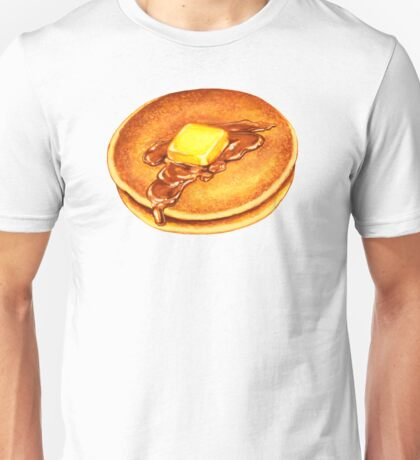 Pancakes Pattern - Blue Unisex T-Shirt
