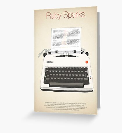 Ruby Sparks Greeting Card