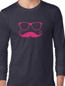 Movember Geek ver.fuchsia Long Sleeve T-Shirt
