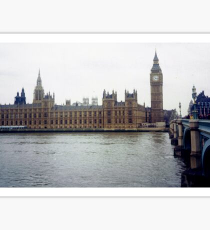 Westminster with Big Ben on the Thames Sticker