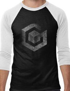 °GEEK° Gamecube B&W Logo Men's Baseball ¾ T-Shirt