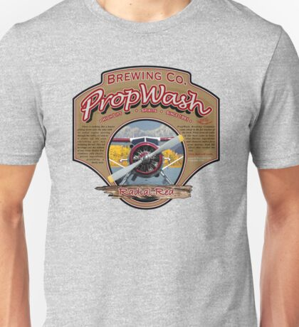 PropWash Brewing Co. - Radial Red DHC-2 Beaver Floatplane Unisex T-Shirt