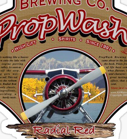 PropWash Brewing Co. - Radial Red DHC-2 Beaver Floatplane Sticker