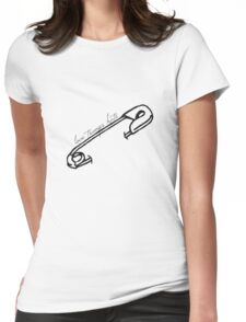 Love Trumps Hate Safety Pin Shirt (black print) Womens Fitted T-Shirt