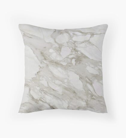 Gray Marble  Throw Pillow