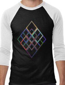 Intertwining Diamonds Men's Baseball ¾ T-Shirt