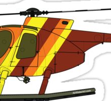 Hughes 500D Helicopter Sticker
