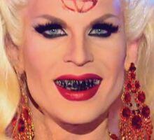 Satanic Katya Zamolodchikova With Flowers - Rupaul's Drag Race Sticker
