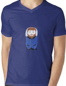 Hipster Nesting Doll Mens V-Neck T-Shirt