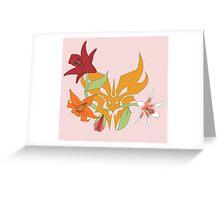 Floral Predacon Insignia Greeting Card