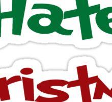 I HATE CHRISTMAS GRINCH UGLY SWEATER HOLIDAYS XMAS BLACK HEART Sticker