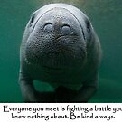 Everyone is fighting a battle by Alison Perkins