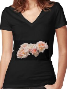 Glorious mass of roses Women's Fitted V-Neck T-Shirt