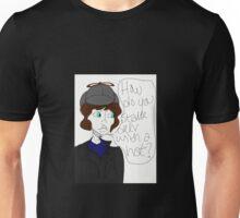 Sherlock Holmes- Deerstalker Hat  Unisex T-Shirt