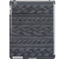 Charcoal Cable Knit iPad Case/Skin