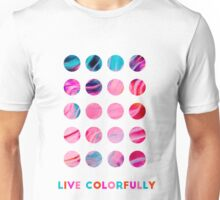 Abstract Paint-Polka Dots  Unisex T-Shirt