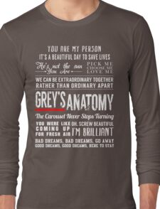 Grey's Anatomy quotes - All in One Long Sleeve T-Shirt