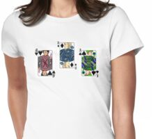 The Three Cards - Markiplier, PewDiePie and Jacksepticeye Womens Fitted T-Shirt
