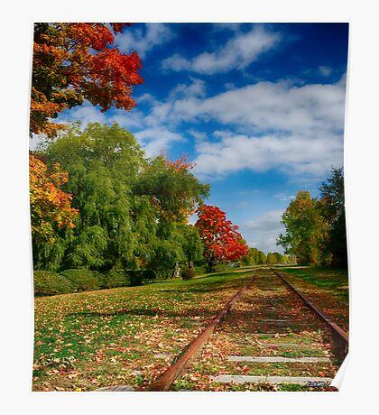 Railroad Tracks at Grand-Pre National Historic Site Poster