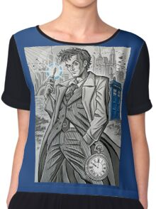 The Tenth Doctor  Chiffon Top