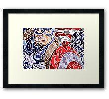 Abstract Captain Framed Print