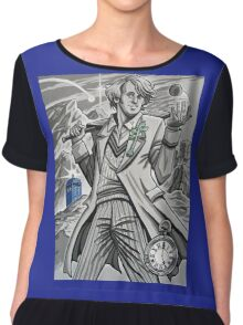 The Fifth Doctor  Chiffon Top
