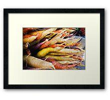 Farmers Market Multicolor Carrots Framed Print