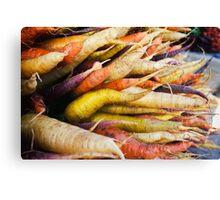 Farmers Market Multicolor Carrots Canvas Print